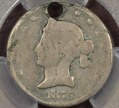 1875 20C J-1392 PCGS AG Details