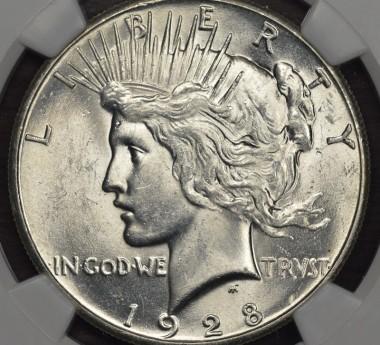 1928 $1 NGC MS61