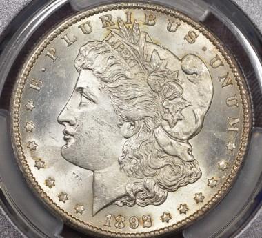 1892-CC $1 PCGS MS62