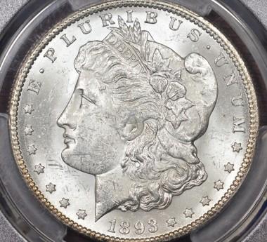 1893-CC $1 PCGS MS62